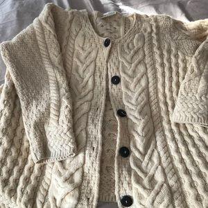 2X Kilronan Irish wool sweater cardigan